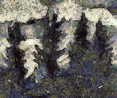 Forest (chartan) Tags: texture expressionism trees vangoghapp ipod digital sketch