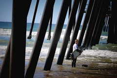 Surfer awaits his turn in the Pismo Beach surfing finals (EXPLORE) (avilacats) Tags:
