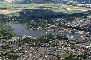 Oulton Broad in Suffolk - UK aerial pic