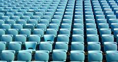 the sea of seats (Bambola 2012) Tags: europe europa hrvatska croatia croazia dalmatia dalmacija dalmazia šibenik seats sedie stolci sjedala blue blu plavo summer estate ljeto