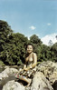 Dayak Maiden On The Rocks (Stephen Reed) Tags: sarawak borneo vintage girls topless breasts natives lightroomcc cannonscanner colour