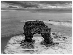 Sea arch. (malcbawn) Tags: landscape seastacks longexposure southtyneside outdoors seascape northsea whitburn waves marsden