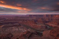 Dead Horse Point (Bob Bowman Photography) Tags: utah sunrise clouds light vista view river sedimentary erosion landscape canyon sky nikon southwest moab