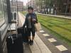Tram stop (jovike) Tags: amsterdam city espe grass holiday netherlands rail rain transport travel woman