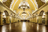 Komsomolskaya Metro Station, Moscow (tonyg1494) Tags: komsomolskaya indoor subwaystation metrostation komosomolskayametrostation moscow russia subway train people photography