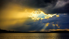 Let's Co-mingle. (Bob's Digital Eye) Tags: 2017 bobsdigitaleye canon clouds efs24mmf28stm flicker flickr h2o laquintaessenza lake lakesunsets landscape nature silhouette skies sky skyscape sunset sunsetsoverwater t3i water
