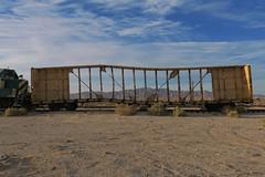 Waviness (Arrowhead Fan) Tags: pacific imperial railroad desert line impossible san diego arizona eastern idaho northern inpr sdae pir baja bjrr centerbeam coyote wells ca california