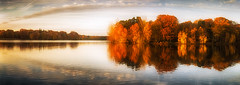 Autumn Rust (Trevor Bowling) Tags: clumberpark autumn autumnal rust orange decay fall reflection lake water sly clouds sunrise 2017 nikon d3200 nationaltrust