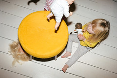Untitled (TPTopple) Tags: kids family domestic yellow twins dolls toys