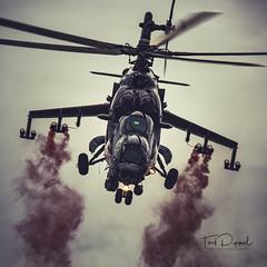 "Mil Mi-24V Hind E form the Czech Air Force, ""Alien Tiger"" (flyer_2001) Tags: festivalofflight2017 aircraft 3366 hinde tiger milmi24v airshow festivalofflight bigginhillcentenary airfield czechairforce 221vrtulníkováletka bigginhill aviation helicopter milmi24vhinde 221sthelicoptersquadron airport bigginhillfestivalofflight namestnadoslavouab"