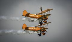 130825_Dunsfold_0133 (dandridgebrian) Tags: airshow dunsfold wingswheels airdisplay breitlingwingwalkers biplanes breitlingwingwalker boeingstearman