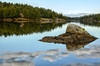 Nothing but Blue Skies from now On (Lindaw9) Tags: shanty bay rock cloud reflections treeline cottage sky clouds shoreline northern ontario