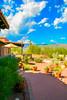 Desert Patio Digital Watercolor (randyherring) Tags: az arizona tucson us bloom cactus color desertplants flowers hotel mountains trees