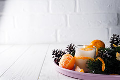 Christmas mandarines with lighted candle. (lyule4ik) Tags: background fruit holiday mandarin orange table winter christmas citrus natural rustic wooden candle card tangerine xmas celebration decor gift new wood year branch december firtree juicy warm bright composition decoration sweet traditional white green red star 2018 aroma aromatherapy beautiful burn celebrate cosy cozy decorated delicious energy evening fir firtreeneedles