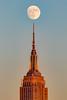 Super Moon Tonight ([ raymond ]) Tags: antenna architecture empirestatebuilding moon newyork nyc skyscraper esb supermoon 5143jpg