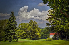 Teeing Off, 2010.07.21 (2017 Remix) (Aaron Glenn Campbell) Tags: golfcourseroad lehmangolfclub lehman backmountain luzernecounty pennsylvania 3xp hdr rural country sunny summer macphun aurorahdr2017 nikcollection viveza on1effects canon eos rebel t2i 550d kissx4 ef50mmf18ii primelens efmount