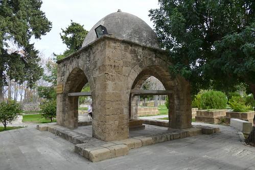 Baldoken Turbe (free standing tomb with a sheltering gazebo, Baldoken Ottoman Graveyard, Kyrenia, North Cyprus (1)