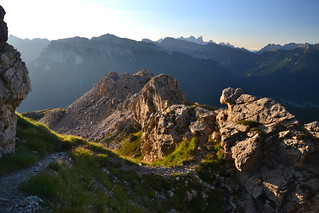 Early morning over the Val di Fassa