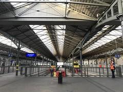Trains In A Station - Iarnrod Eireann - Dublin, Ireland. (firehouse.ie) Tags: december2017 2017 eire iarnrodeireann irishrail stations rail houston station ireland dublin railroad railway train trains