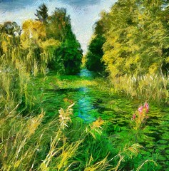 River Pond (Bob Smerecki) Tags: smackman snapnpiks robert bob smerecki sports art digital artwork paintings illustrations graphics oils pastels pencil sketchings drawings virtual painter 6 watercolors smart photo editor colorization akvis sketch drawing concept designs gmx photopainter 28 draw hollywood walk fame high contrast images movie stars signatures autographs portraits people celebrities vintage today metamorphasis 002 abstract melting canvas baseball cards picture collage jixipix fauvism infrared photography colors negative color palette seeds university michigan football ncaa mosaic