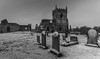 "My favourite derelict church. (Ian Emerson ""I'm Back"") Tags: church ruins derelict headstone graveyard winter snow blackwhite outdoor canon 1018mm nottinghamshire"
