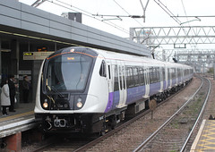 New stock on The Shenfield (AndrewHA's) Tags: stratford railway station east london train tfl rail class 345 emu electric multiple unit 345012 liverpool street shenfield stopping passenger suburban service 2w70 crossrail elizabeth line new rolling stock