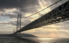 Akashi Kaikyō Bridge (Mikiong) Tags: kobe hyogo japan suspension longest bridge akashi sunset travel honshu