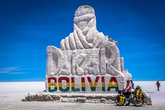 Amanda with the Bolivia sign and a random woman.