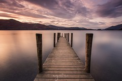 Ashness jetty Keswick, Cumbria (Pastel Frames Photography) Tags: cumbria keswick lakedistrict derwentwater amazingsunset uk canon5dmark3 leefilters canon1635mm jetty mountains