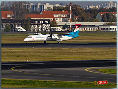Bombardier DHC-8-Q-402 (LX-LGE)— Luxair (Peterspixel from Peter Althoff) Tags: bombardier dhc8q402 lxlge luxair tegel airplane airport air aircraft airlines bombardiertransportation berlin berlintegel germany flughafen flugzeug flughafenberlinbrandenburg