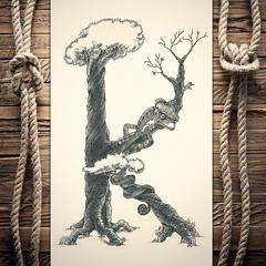 Khameleon (reXraXon) Tags: art artwork pencilart drawing handdrawing sketch pencilsketch typography lettering handlettering letteringart chameleon tree