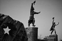 Budapest (Memento Park), 2001 (Joseff_K) Tags: budapest mementopark szoborpark statue bw nb parc park noiretblanc blackandwhite film leicam6 leica m6
