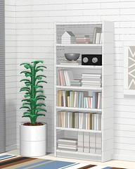 Billy (aukbricks) Tags: lego moc legomoc bookcase bookshelf furniture legofurniture interiordesign legointerior ikea billy books houseplant carpet computerrendering