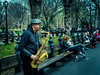 Sax-in-Central-Park-NY (mcook1517) Tags: saxophone sax centralpark newyork city urban ny person people travel tourism music hat bench