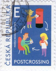 Postcrossing stamp from Czech Republic. (cbrozek21) Tags: postcrossing stamp postalstamp znaczek philately filatelia czech sello