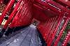 Transitioning from the profane to the sacred (PeterThoeny) Tags: inuyama inuyamacastle gifudistrict gifu japan nagoya aichi aichiprefecture aichidistrict shrine shinto shintoshrine gatepassage passage toriigate torii gate castle wood traditionaljapan architecture day indoor hdr 1xp raw nex6 selp1650 photomatix qualityhdr qualityhdrphotography haritsunashrine fav100