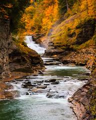 Letchworth State Park Waterfall (Joe_R) Tags: leaves letchworth fall waterfall autumn 60d canon geneseeriver