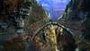 highway to hell (art & mountains) Tags: alpi alps forra gola vallone pontedeldiavolo pontdlagula passaggio antichitransiti omaggio acdc contaminazione rock musica genio artwork
