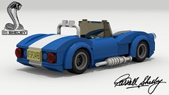 Shelby Cobra (new) (rear view) (Tom.Netherton1) Tags: shelby cobra ac car cars classic vintage 1960s 427 convertible roadster cabriolet 2door british american america britain ford power v8 lego legos ldd digital designer city dropbox download lxf pov povray vehicle white background