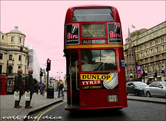 `2152 (roll the dice) Tags: london westminster strand wc2 tourism tourists twin fashion canon uk art classic urban england surreal colour travel transport bus roundel charingcross event rt speed magic effects platform traffic nostalgia retro bygone portrait candid stranger mad lost safe danger tfl aecregent clippie windows doubledeckers light advertising people bag shopping museum biro dunlop reflection flag talk phone hotel aldwych waterstones streetphotography reaction eleven