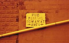 Paid Parking (rentavet) Tags: analog redscale kodakhawkeyesurveillancefilm nikonfg nikkor50mm portclintonohio asa50