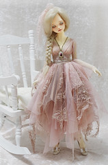 Little Peony (AyuAna) Tags: bjd ball jointed doll dollfie ayuana design handmade ooak clothing clothes dress set outfit slim msd mnf minifee fairyland fashion couture fantasy romantic style dim dollinmind benetia hybrid dolllegend body whiteskin