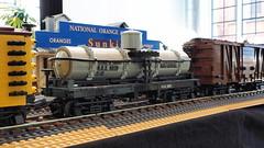 Single Dome Tank Car (Engineering with ABS) Tags: lego santafe railroad train singledometankcar tankcar nationaloilcompany
