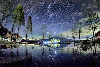 Star trailsat Fujinomiya  朝霧高原星軌