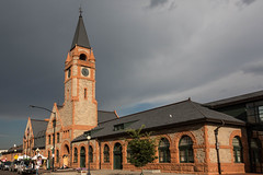 Union Pacific Depot (string_bass_dave) Tags: usa stormclouds clouds wy wyoming train depot railway trains unitedstates cheyenne flickr railroad us