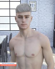 N I K I T A (maximsemenovart) Tags: 3dart 3d 3dmodeling 3dartmen 3dmodel 3dartman 3dmen eroticism eye erotic 3dman art naked artist blondy nakedman digitalart virtualpeople 3dxxx xxx