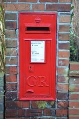 George V Wall Box, Caversham (stavioni) Tags: post box royal mail king george v wall wtallenco london red