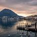 Sunset in Lugano