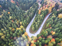 Autumn drive (Chris Herzog) Tags: ifttt 500px autumn yellow trees landscape forest nature travel car curve drive road fall pattern aerial colors green leafs woods motorbike winding remote phantom explore leading line drone switzerland dji