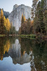 Cathedral Reflections (Kirk Lougheed) Tags: california cathedralrocks elcapitanbridge mercedriver usa unitedstates yosemite yosemitenationalpark yosemitevalley autumn fall forest landscape nationalpark outdoor park reflection river sunset tree water